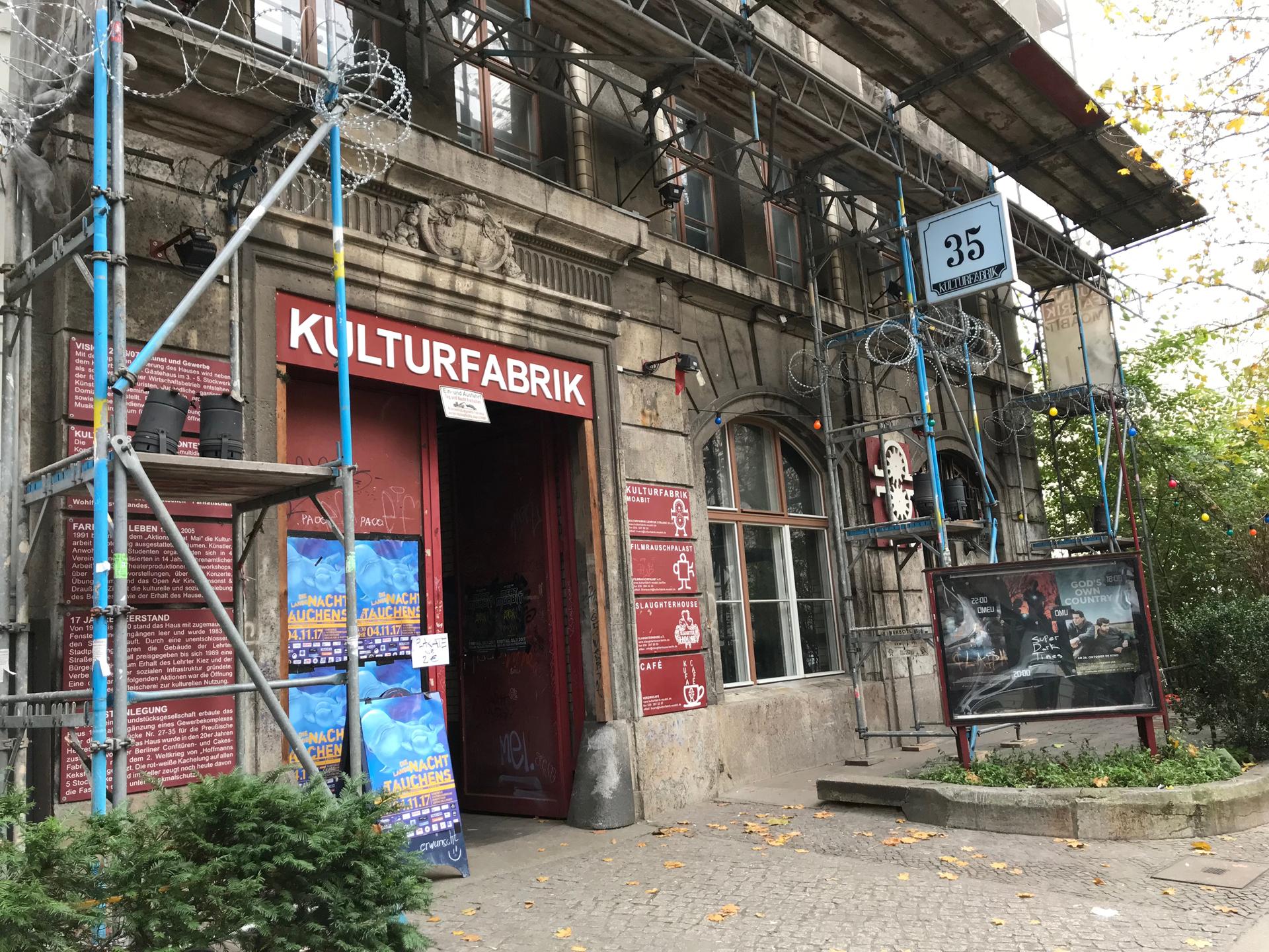 Kulturfabrik Moabit - Veranstaltungsort für die Lange Nacht des Tauchens.
