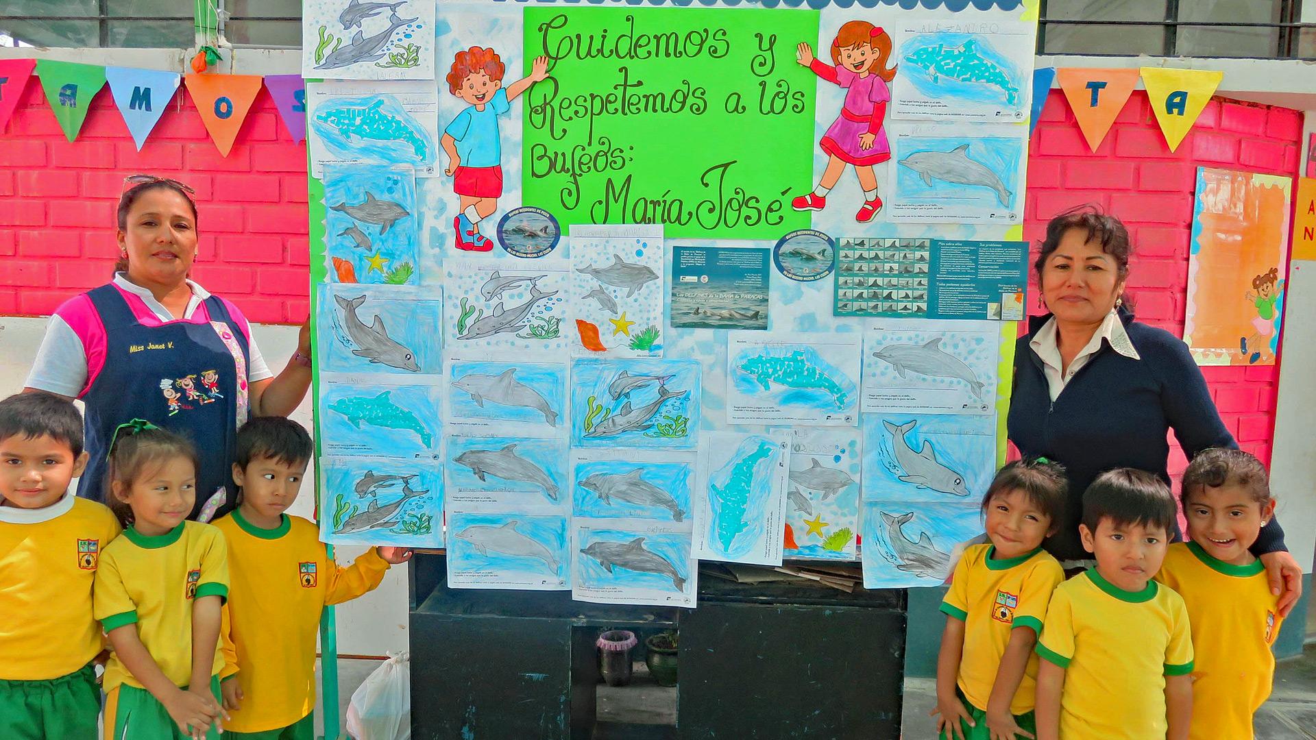 Delfinschutzprojekt Peru: Die wichtige Arbeit mit den Schulen fortgeführt werden.