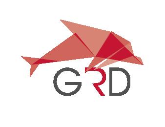 "GRD Logo ""Der rote Delfin"""