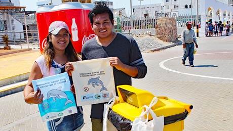 1000 Kampagnen-Baumwolltaschen und 1500 Ekotek-Taschen aus recyceltem Plastik wurden produziert.