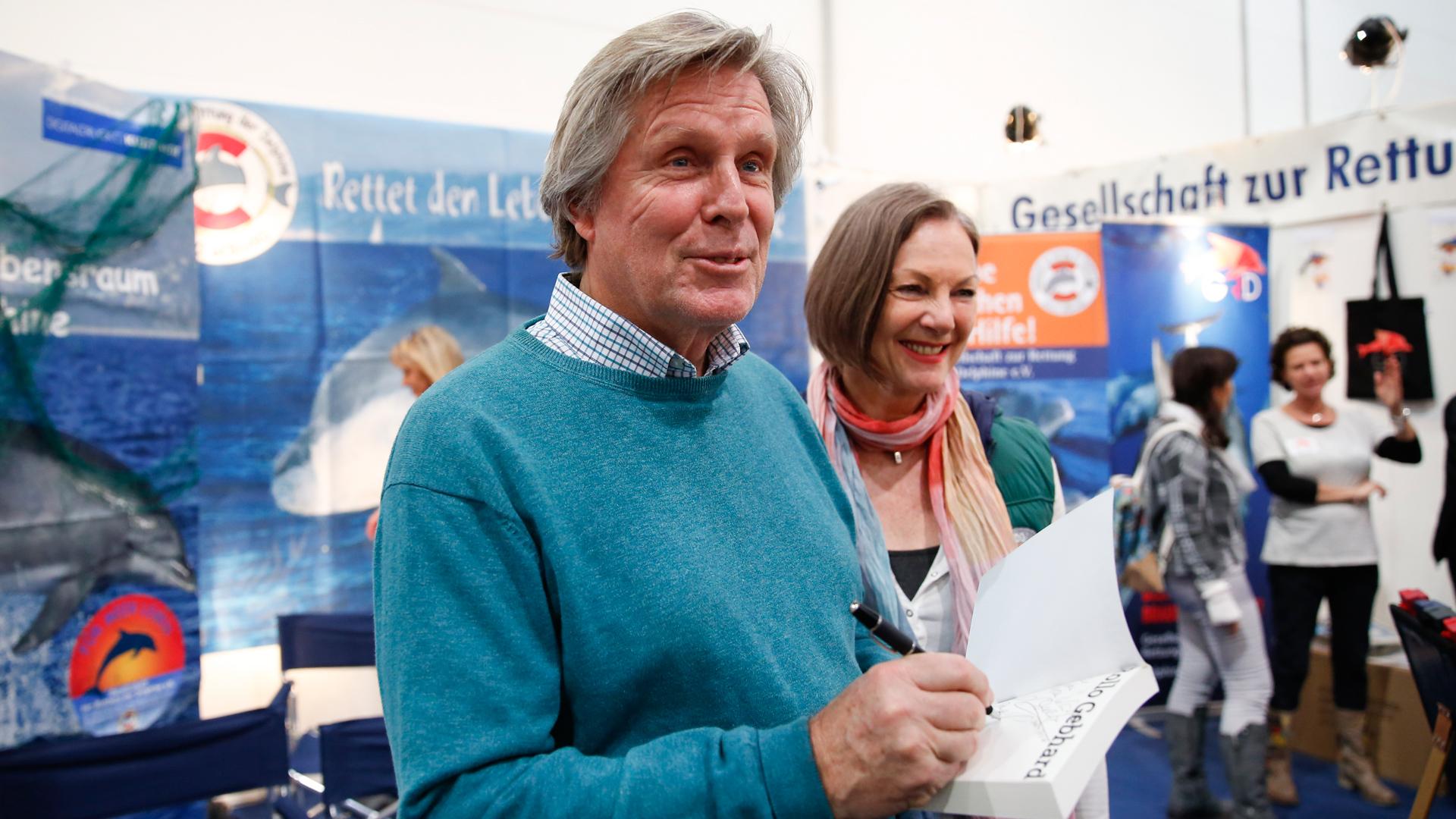 Sigmar Solbach und Angelika Gebhard, Boot 2018.