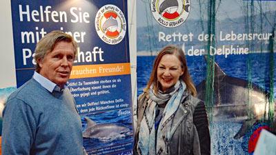 Angelika Gebhard mit Sigmar Solbach.