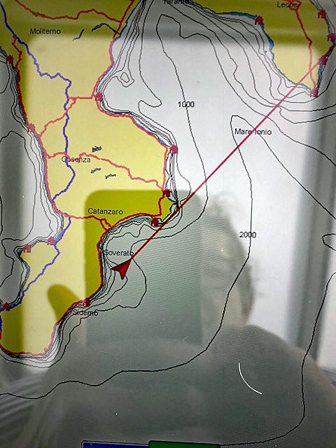 Karte Gemeine Delfine im Ionischen Meer von Claudia Rühle.
