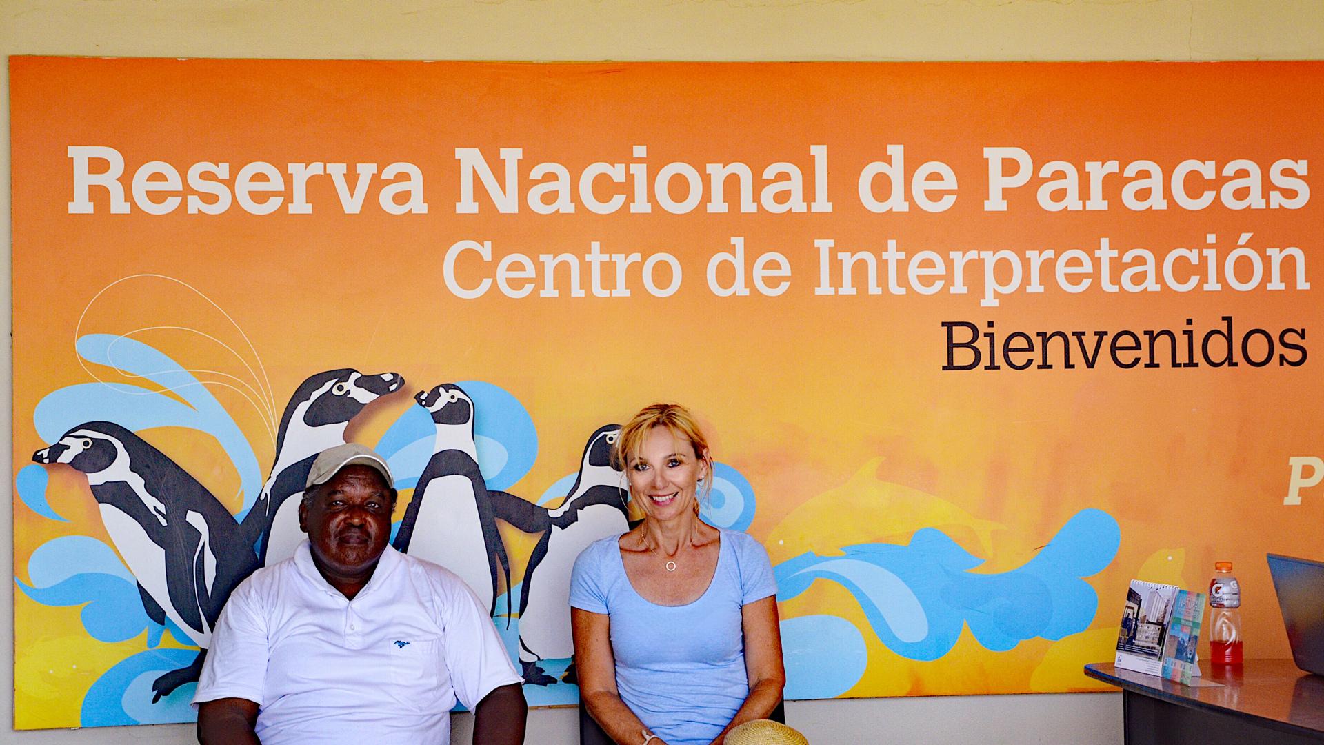 Julio Reyes von ACOREMA und Denise Wenger (Schweinswale e.V.) vom Delfinschutzprojekt Peru.