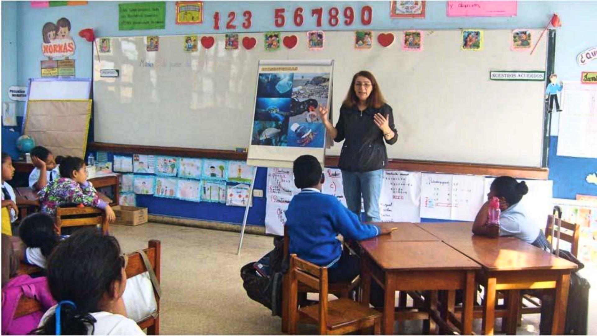 Delfinschutzprojekt Peru: Bildungsarbeit in Schulen