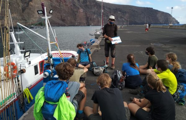 """Delfin- und Walschutz vor La Gomera beim Besuch des """"Klassenzimmers unter Segeln"""""""