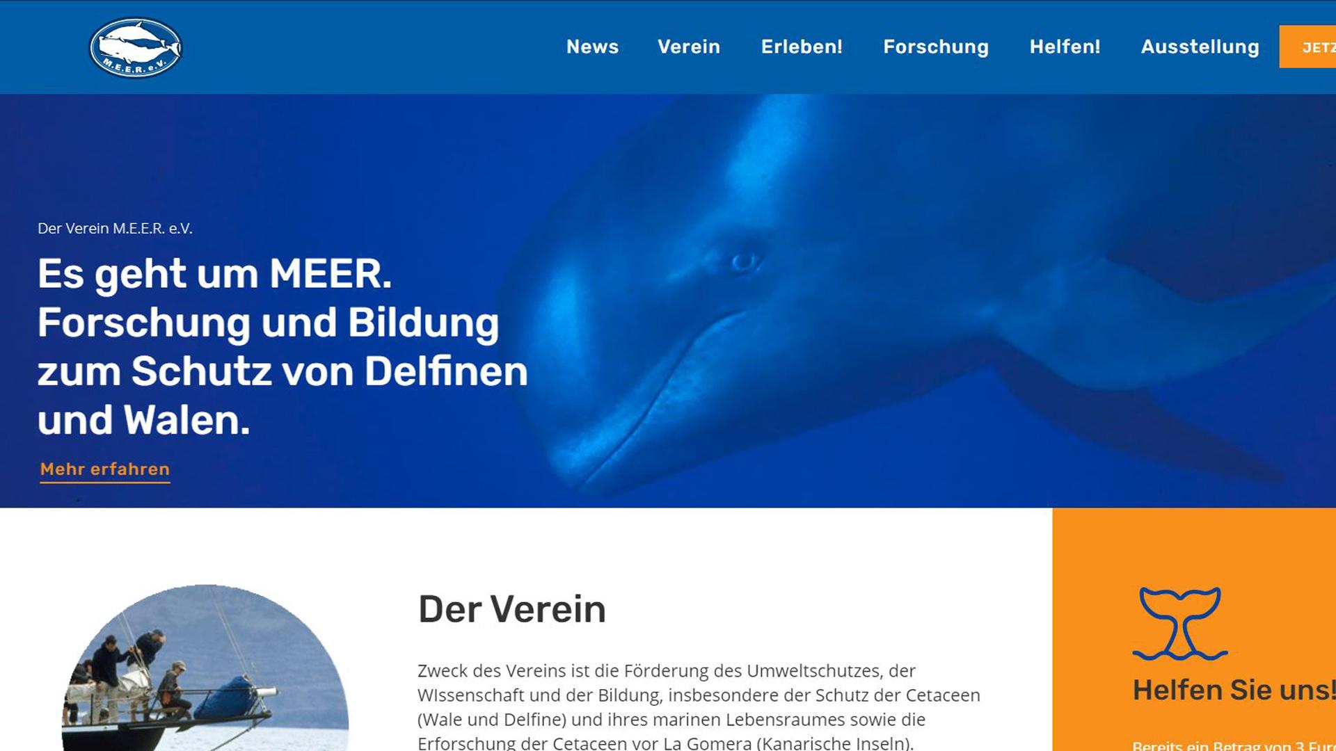 Neue Homepage von MEER e.V.