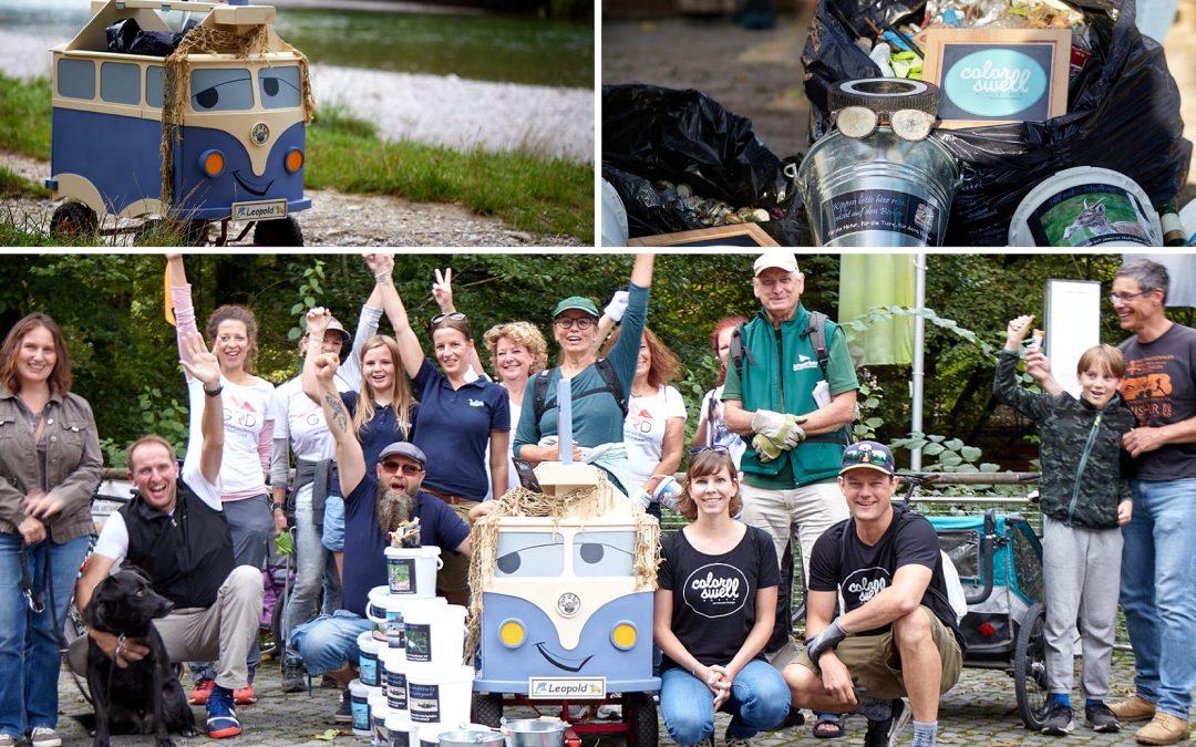 Isar-Clean-Up: 9,5 Kilogramm Müll pro Kilometer
